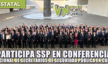 Participa SSP en Conferencia Nacional de secretarios de Seguridad Pública en CDMX
