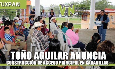 TOÑO AGUILAR ANUNCIA CONSTRUCCIÓN DE ACCESO PRINCIPAL EN SABANILLAS