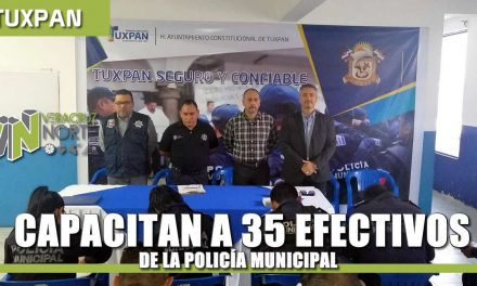 Capacitan a 35 Efectivos de la Policía Municipal
