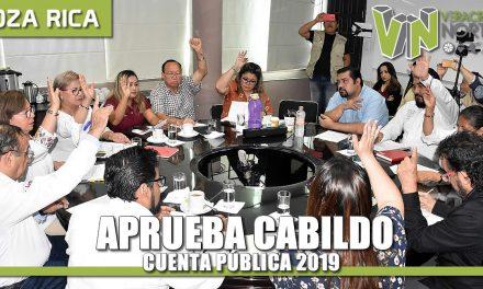 Aprueba cabildo Cuenta Pública 2019