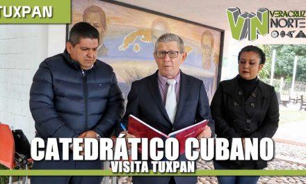 Catedrático Cubano visita Tuxpan