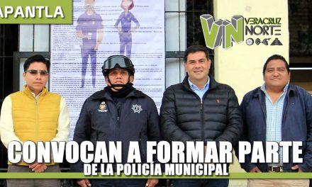CONVOCAN A FORMAR PARTE DE LA POLICÍA MUNICIPAL