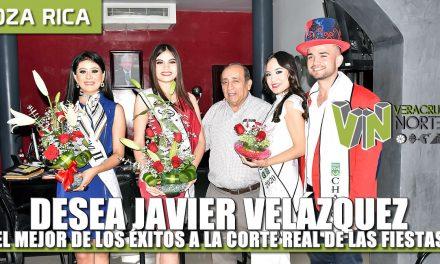 Desea Javier Velázquez el mejor de los éxitos a la Corte Real de las Fiestas del Petróleo