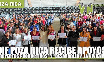 """DIF Poza Rica Recibe apoyos de """"Proyectos Productivos"""" y """"Desarrollo a la Vivienda y la Comunidad"""""""