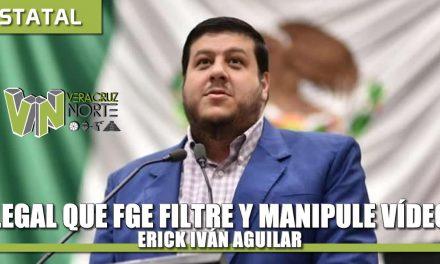 Ilegal que FGE manipule y filtre videos; en dicho video se confirma que mi actuación fue totalmente legal: Erick Iván Aguilar