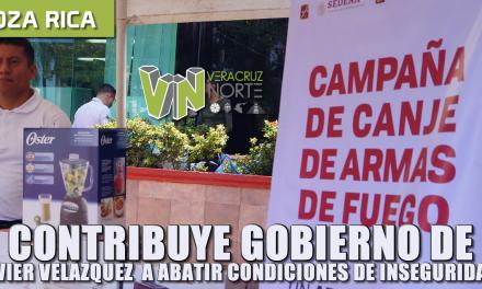 CONTRIBUYE GOBIERNO DE JAVIER VELÁZQUEZ A ABATIR CONDICIONES DE INSEGURIDAD