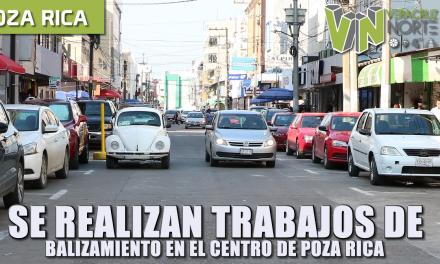 SE REALIZARÁN TRABAJOS DE BALIZAMIENTO EN EL CENTRO DE POZA RICA