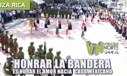 HONRAR LA BANDERA, ES HONRAR EL AMOR HACIA CADA MEXICANO