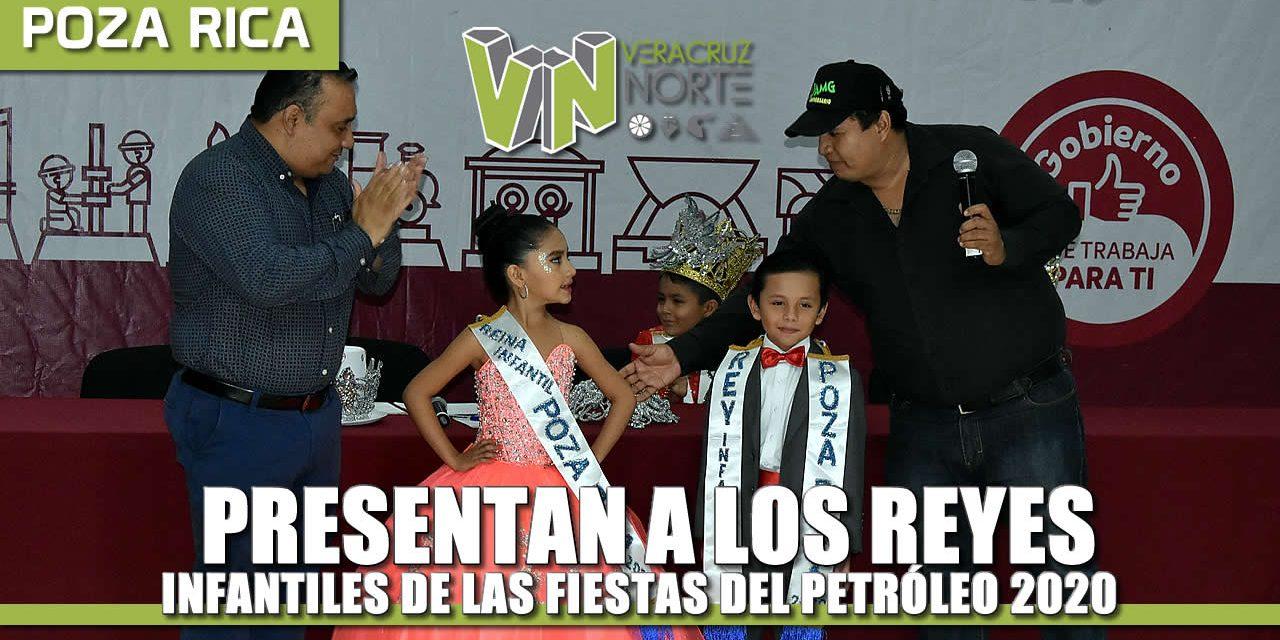 Presentan a Reyes Infantiles de las Fiestas del Petróleo 2020