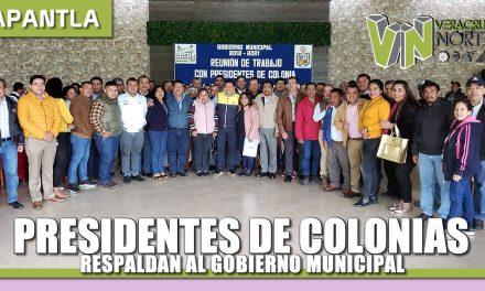 PRESIDENTES DE COLONIAS RESPALDAN AL GOBIERNO MUNICIPAL