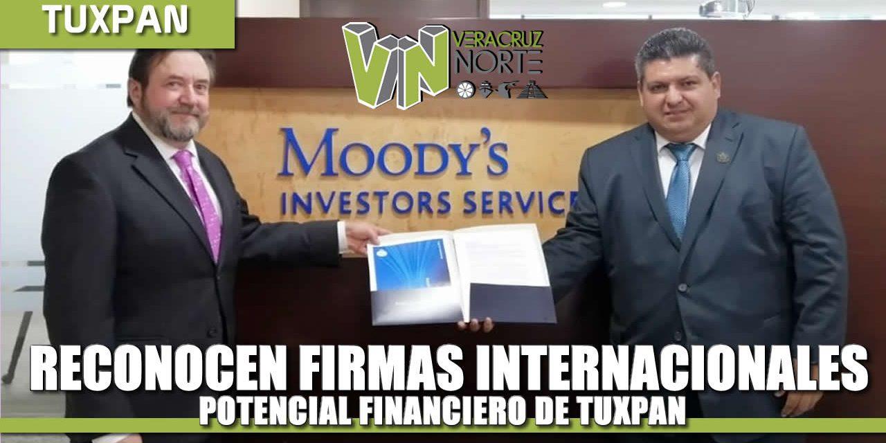 Firmas calificadoras internacionales reconocen potencial financiero de Tuxpan