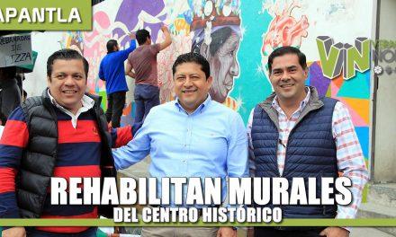 Rehabilitan Murales del Centro Histórico
