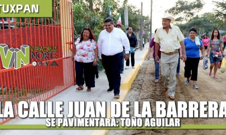 La calle Juan de la Barrera se pavimentará: Toño Aguilar