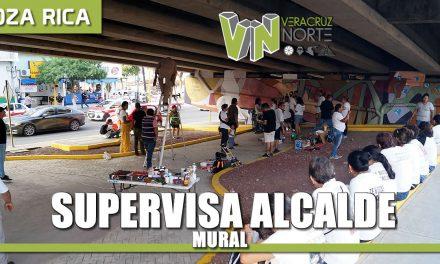 Supervisa alcalde mural realizado por integrantes de la Brigada Nacional de Búsqueda