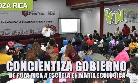 concientiza gobierno de poza rica a escuelas en materia ecológica