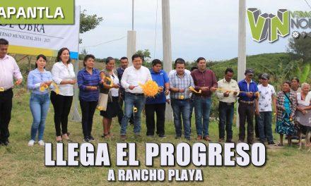 llega el progreso a rancho playa