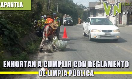 EXHORTAN A CUMPLIR CON REGLAMENTO DE LIMPIA PÚBLICA