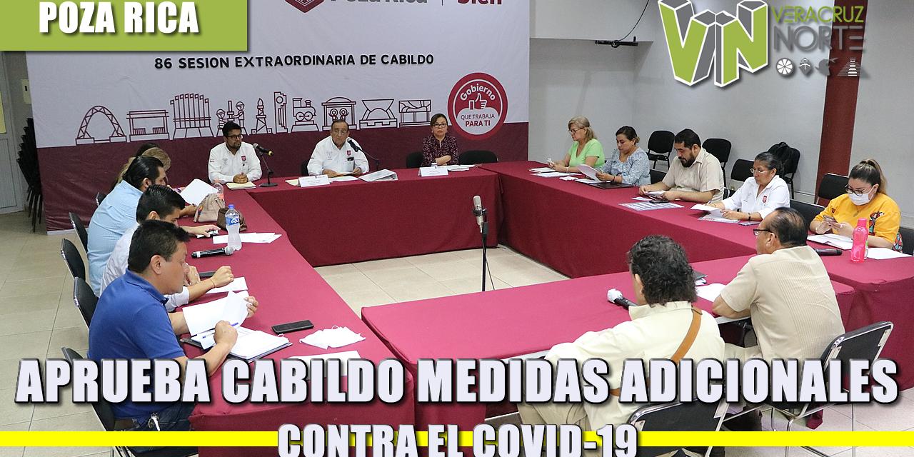 APRUEBA CABILDO MEDIDAS ADICIONALES CONTRA EL COVID-19