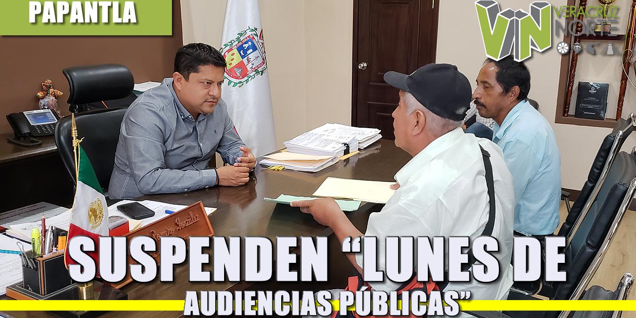 """SUSPENDEN """"LUNES DE AUDIENCIAS PÚBLICAS"""""""