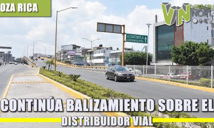 CONTINÚA BALIZAMIENTO SOBRE EL DISTRIBUIDOR VIAL