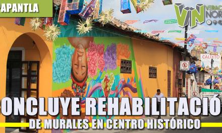 CONCLUYE REHABILITACIÓN DE MURALES EN CENTRO HISTÓRICO