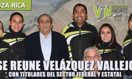 se reúne velázquez vallejo con con titulares de sectur federal y estatal