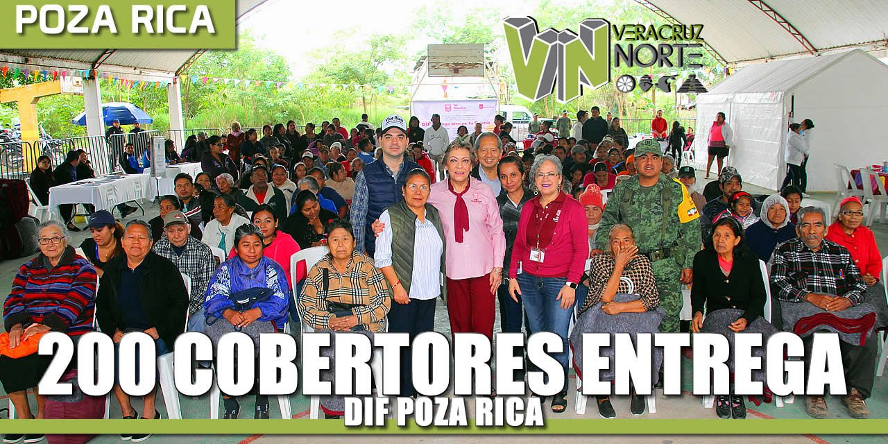 DIF Poza Rica entrega 200 cobertores para familias de sectores vulnerables en la Colonia Morelos