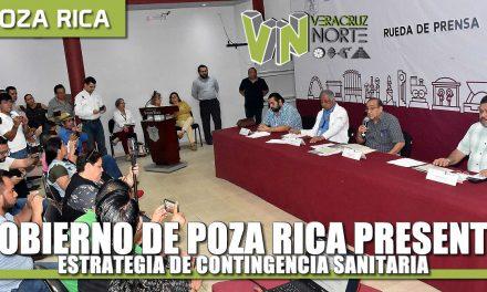 Gobierno de Poza Rica presenta estrategia de contingencia sanitaria