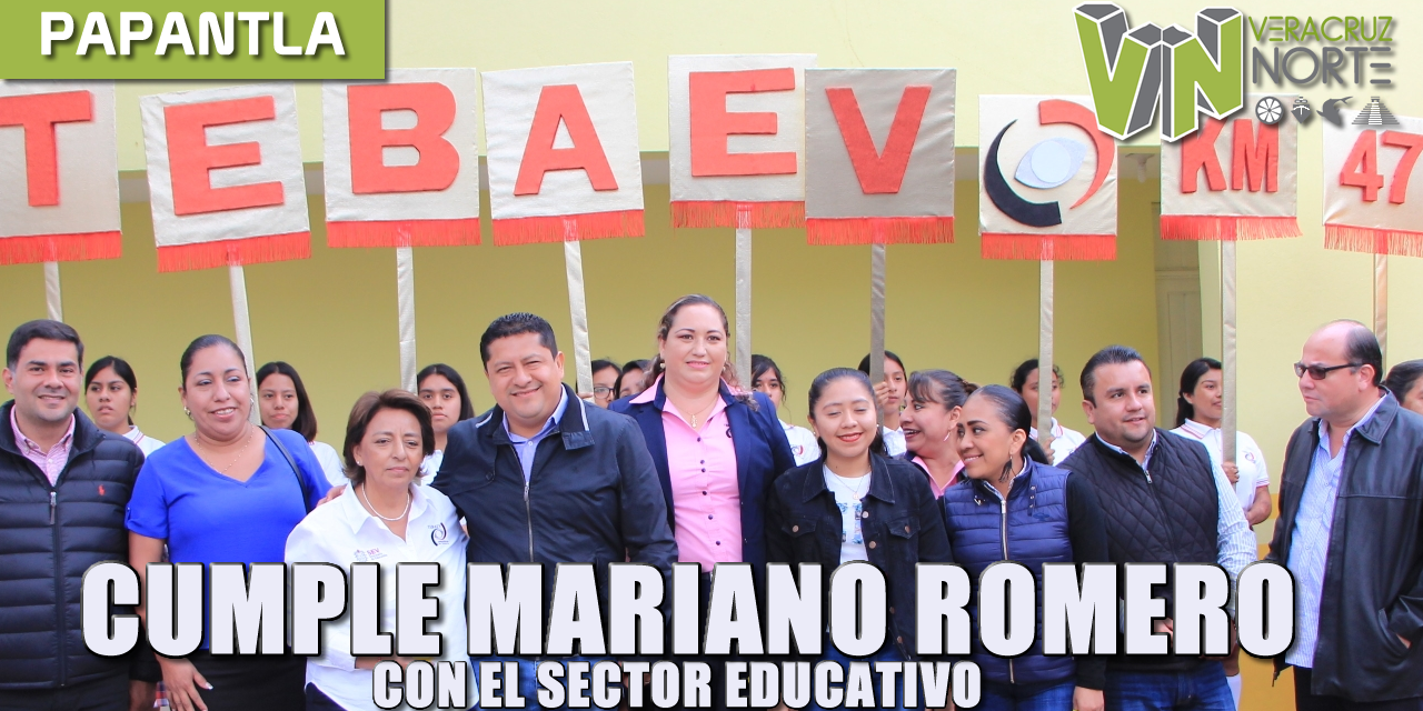 CUMPLE MARIANO ROMERO CON EL SECTOR EDUCATIVO