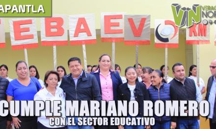 CUMPLE MARIANO ROMERO CON EL SECTOR EDUCATIVO
