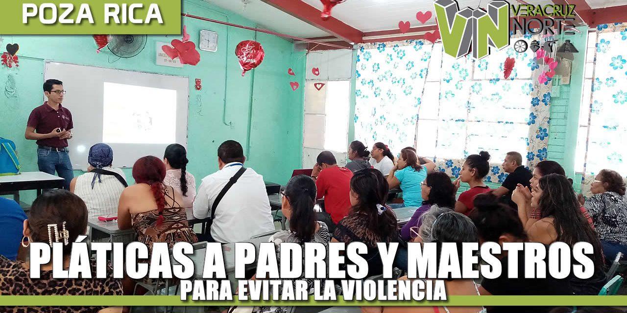 Lleva Prevención del Delito pláticas a padres y maestros para evitar la violencia