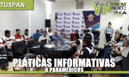 Pláticas informativas a paramédicos