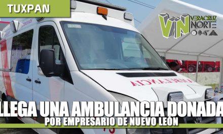 LLEGA AMBULANCIA DONADA POR EMPRESARIO DE NUEVO LEÓN
