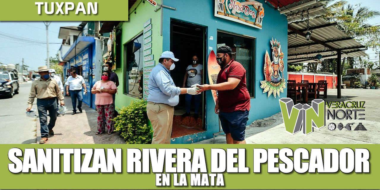 APLICAN ACCIONES DE SANITIZACIÓN EN LA RIVERA DEL PESCADOR