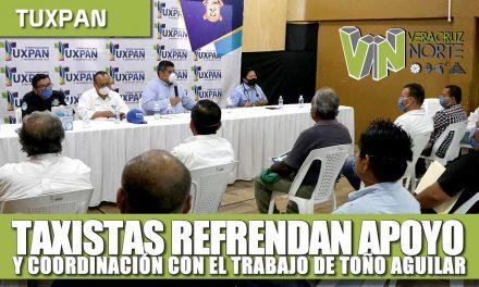 Taxistas refrendan apoyo y coordinación con el trabajo de Toño Aguilar
