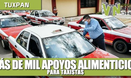 Más de mil apoyos alimenticios para taxistas