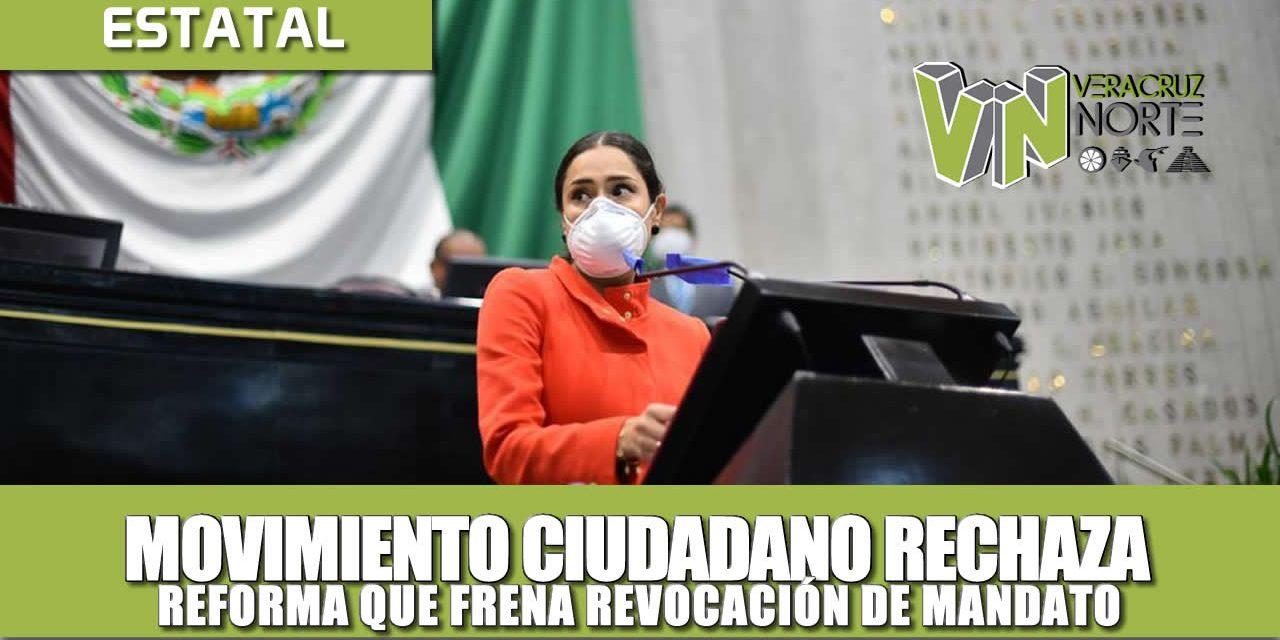 MOVIMIENTO CIUDADANO RECHAZA REFORMA QUE FRENA REVOCACIÓN DE MANDATO