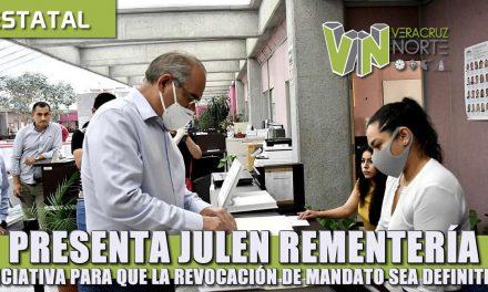 Presenta Julen Rementería iniciativa para que la revocación de mandato del gobernador sea obligatoria