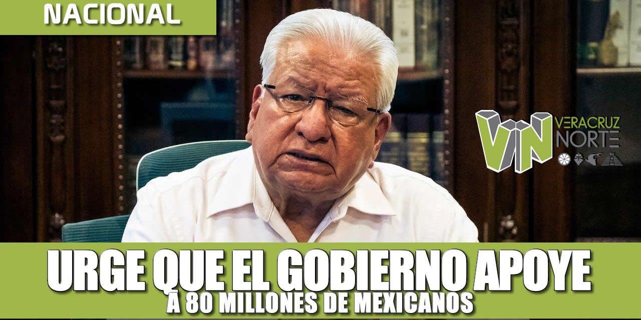 Urge que el gobierno apoye a 80 millones de mexicanos  sin alimentos y proteja al sector médico