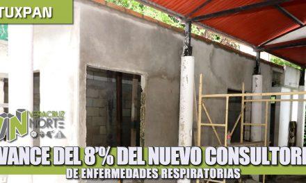 AVANCE DEL 80% EN EL NUEVO CONSULTORIO DE ENFERMEDADES RESPIRATORIAS