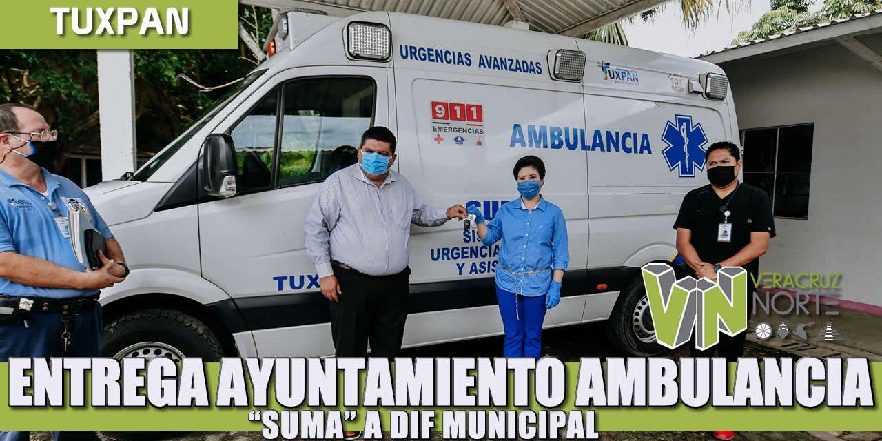"ENTREGA AYUNTAMIENTO AMBULANCIA ""SUMA"" A DIF MUNICIPAL"