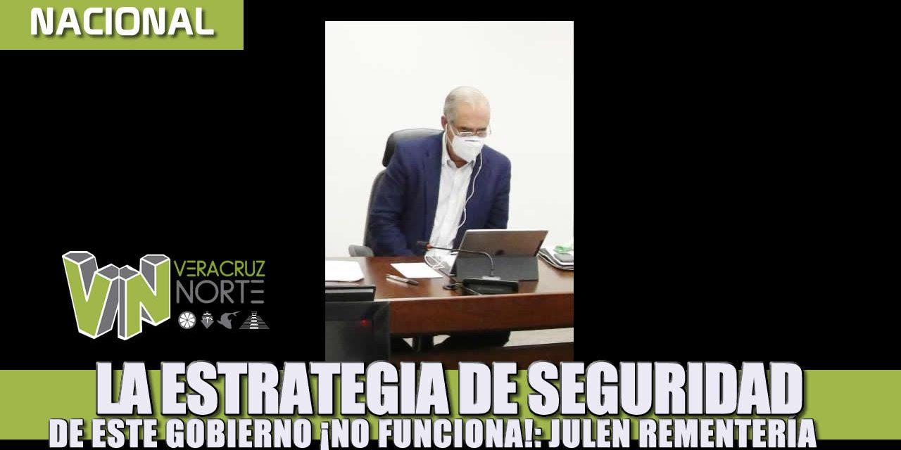 La estrategia de seguridad de este gobierno ¡No funciona!: Julen Rementería