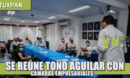 SE REÚNE TOÑO AGUILAR CON CÁMARA DE COMERCIO Y ALGUNOS REPRESENTANTES DE ASOCIACIONES