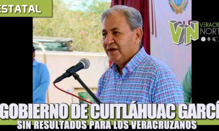 EL GOBIERNO DE CUITLÁHUAC GARCÍA SIN RESULTADOS PARA LOS VERACRUZANOS