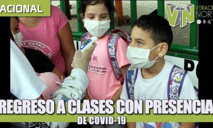 REGRESO A CLASES CON PRESENCIA DE COVID-19