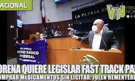Morena quiere legislar fast track para comprar medicamentos sin licitar: Julen Rementería