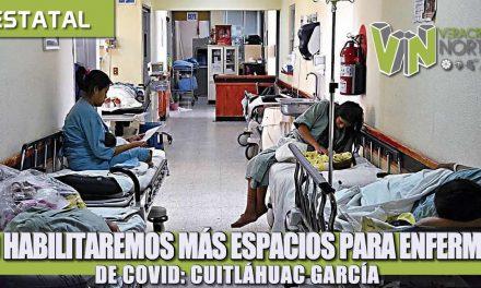 NO HABILITAREMOS MÁS ESPACIOS PARA ENFERMOS DE COVID: CUITLÁHUAC GARCÍA