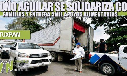 TOÑO AGUILAR SE SOLIDARIZA CON FAMILIAS VULNERABLES Y ENTREGA OTROS 5 MIL APOYOS ALIMENTARIOS