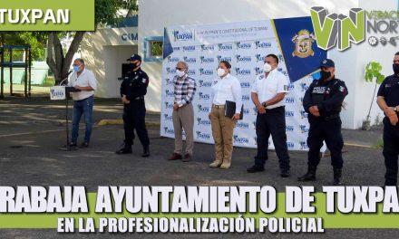 TRABAJA AYUNTAMIENTO DE TUXPAN EN LA PROFESIONALIZACIÓN POLICIAL