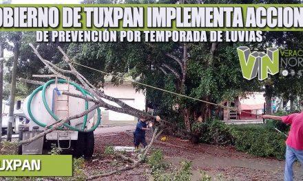 GOBIERNO DE TUXPAN IMPLEMENTA ACCIONES DE PREVENCIÓN POR TEMPORADA DE LUVIAS